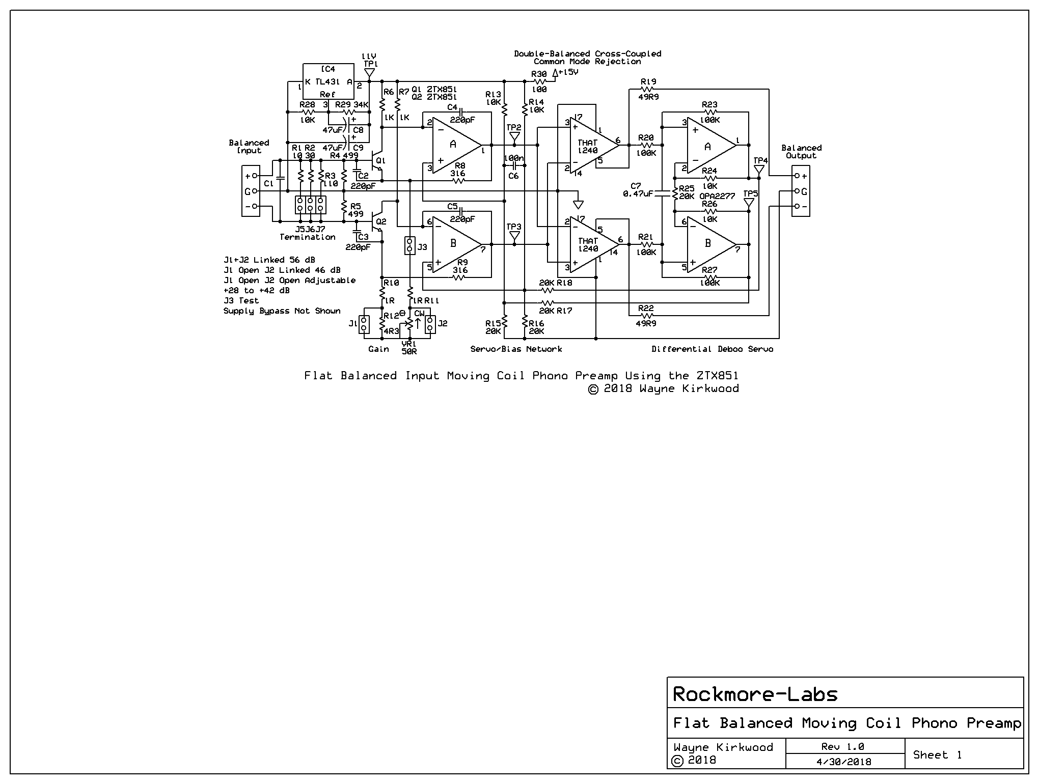 a low noise balanced input moving coil preamp using the ztx851 - page 17